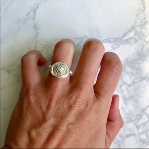 Faux Pearl Wire Ring